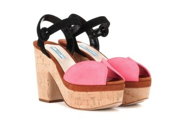 Image of Prada suede platform sandals