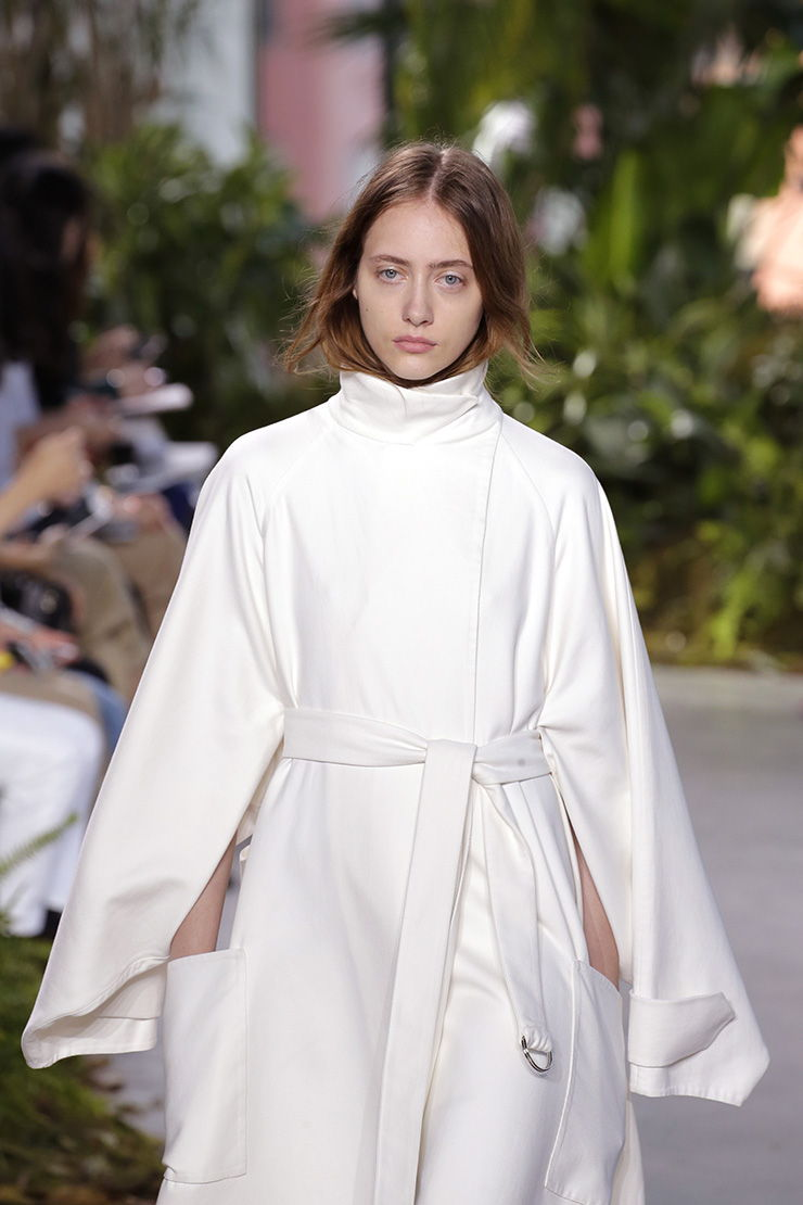 Image of a model wearing robe