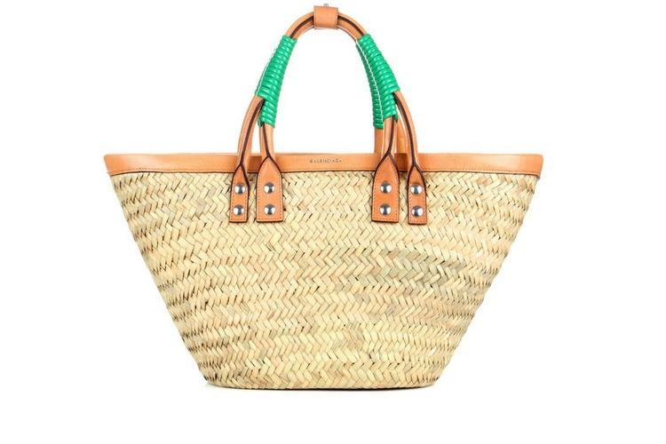 Image of Balenciaga straw bag