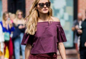 Olivia Palermo in burgundy