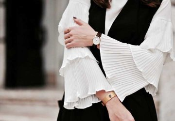 White shirt with bell sleeves
