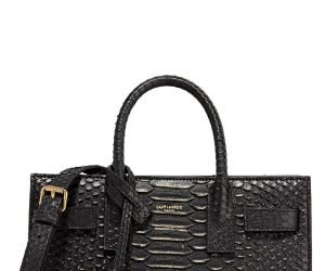Saint Laurent python nano shoulder bag