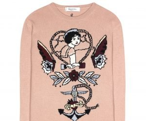 VALENTINO Intarsia wool and cashmere sweater € 1,095