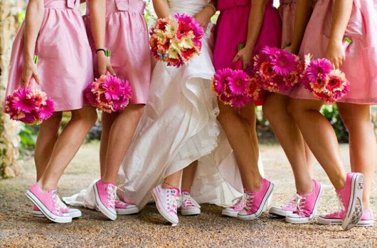 How to wear sneakers on your wedding day?