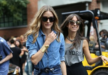 Olivia Palermo in denim look.
