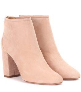 Aquazurra suede ankle boots