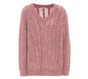 MIU MIU Alpaca and wool-blend sweater € 525
