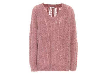 MIU MIU Alpaca and wool-blend sweater € 525