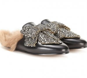 Gucci sparkling slippers are one of our favourite pieces this season.
