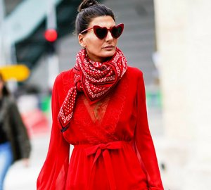Red colour is a real trend inspired by street style fashion.