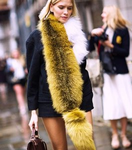 Winter fur stole is the must have accessory