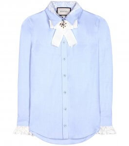 Gucci embellished cotton shirt