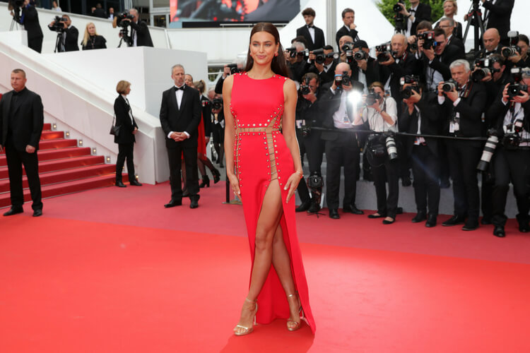 Model Irina Shayk attends the 71st annual Cannes Film Festival at Palais des Festivals on May 10, 2018 in Cannes, France.
