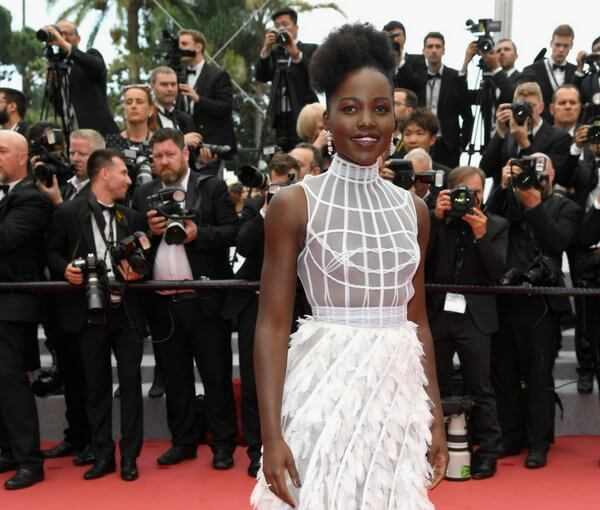 Actress Lupita Nyongo attends the 71st annual Cannes Film Festival at Palais des Festivals on May 10, 2018 in Cannes, France.