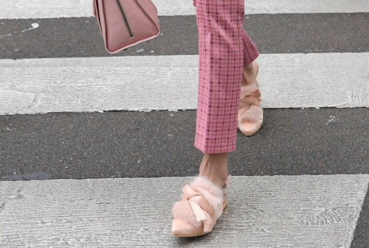 Mules are one of the trendiest shoes this season.