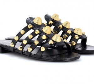 Balenciaga slippers for an edgy, yet stylish summer looks.