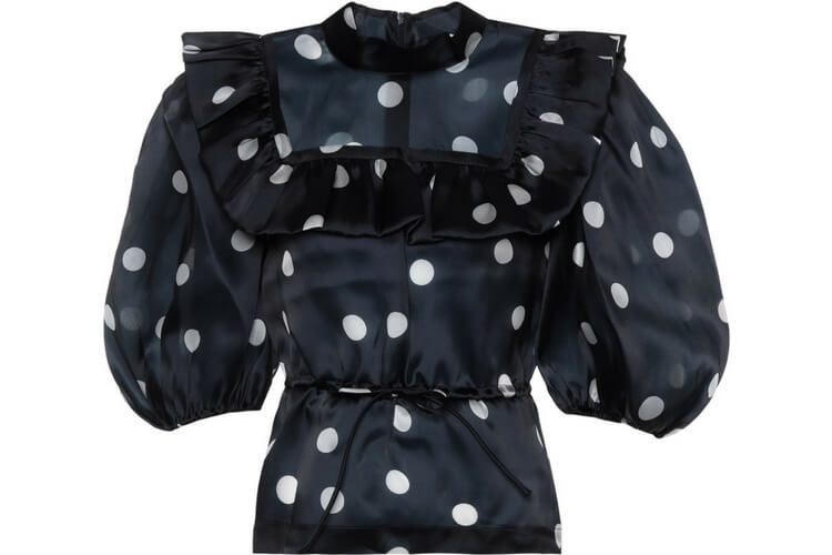 This Ganni polkadot top is the perfect option for summer office look.