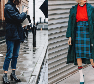 the fashion girls, in one way or another, continue to rock the sparkling trend and now the socks come to the front line as an indispensable accessory