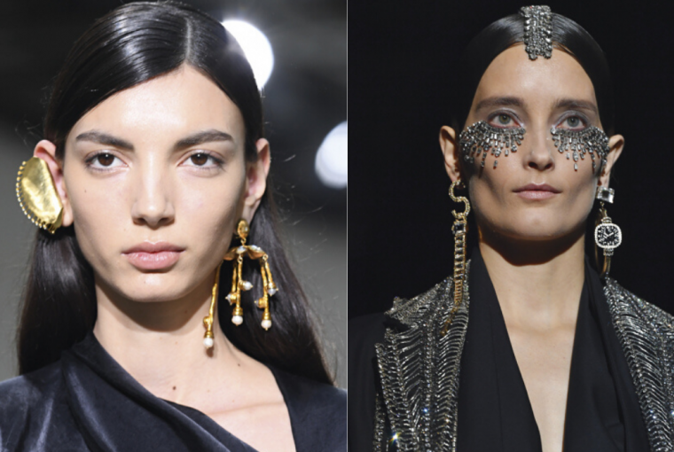 Facial and hair jewelry is the new craze of designers, which echoes in our sensors eager for new ideas and beauty trends to try.